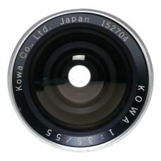 Kowa Six 1:3.5/55 Wide Angle Prime 6x6 Medium Format Camera Lens