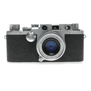 Shark Skin Leica IIIc vintage film camera Elmar 2.8/50mm lens case cap