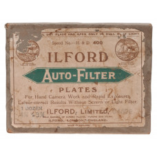 """Ilford Auto-Filter Plates 3 1/4"""" x 4 1/4"""" H&D 400 in Sealed Box"""