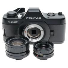 Asahi Pentax Auto-110 Subminiature Film Camera 2.8/24mm 18mm Lenses