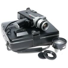Canon Super 8 Auto Zoom 518 SV Cine camera w Aux. lens cased