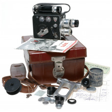 Leveque L.D. 8mm Cine camera full set of 4x Som Berthiot lenses