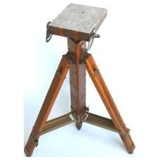 Studio vintage camera tripod wooden heavy duty antique
